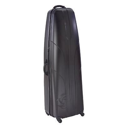 Golf Hard Sided Travel Case Plastic Luggage Cover Protect Clubs Black Bag Wheels