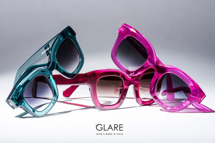 GLARE Design Sunglasses, MOD. ROMINA. Acetate frames totally Hand Made in Italy.