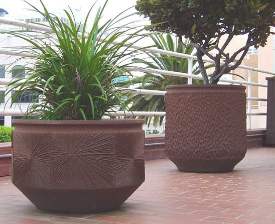 For Sale on   These stunning planters were made for Earthgender  The  company called Earthgender was formed in California in the by the well  known potter. 48 best extra large pots images on Pinterest   Large pots  Large