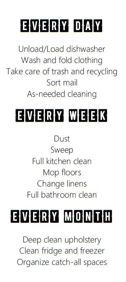 Best 25+ Apartment cleaning schedule ideas on Pinterest | First ...
