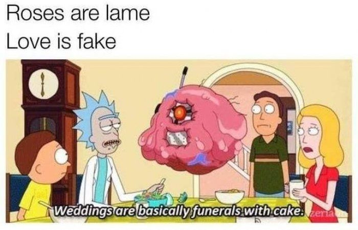 Roses are lame meme