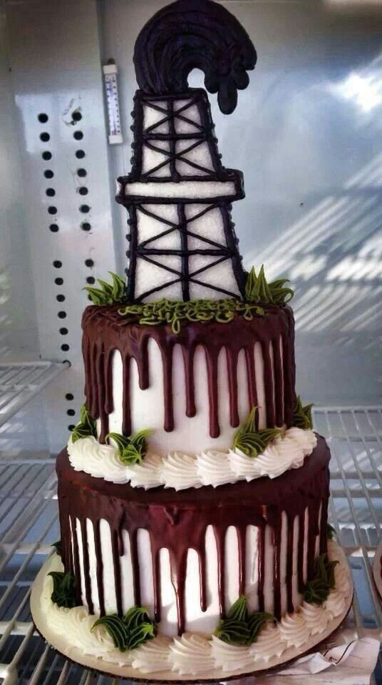 Sweet, but something to get rid of. The cake being easier than the actual drilling rig ;-)