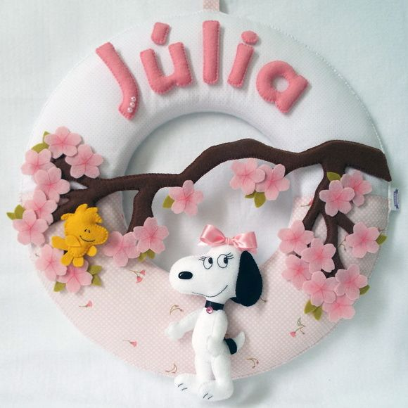 Guirlanda Belle - Irmã do Snoopy