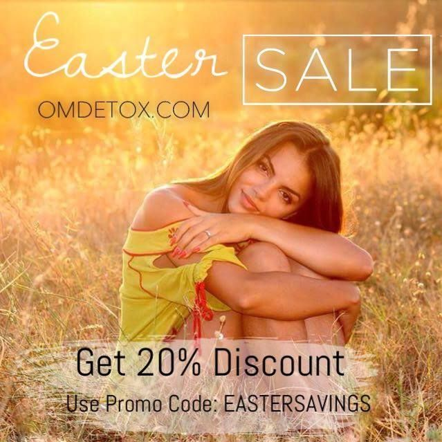 Save 20% on the 7 day detox and colon cleanse program. Weight loss, purification, healing and so much more.... Visit omdetox.com and use promo code: EASTERSAVINGS