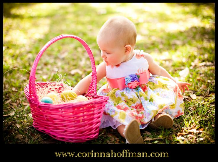 52 best photo ideas easter images by lisa moody on pinterest baby easter basket outside negle Gallery