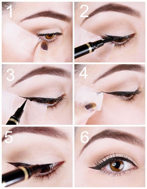 how to get perfect eyeliner with tape