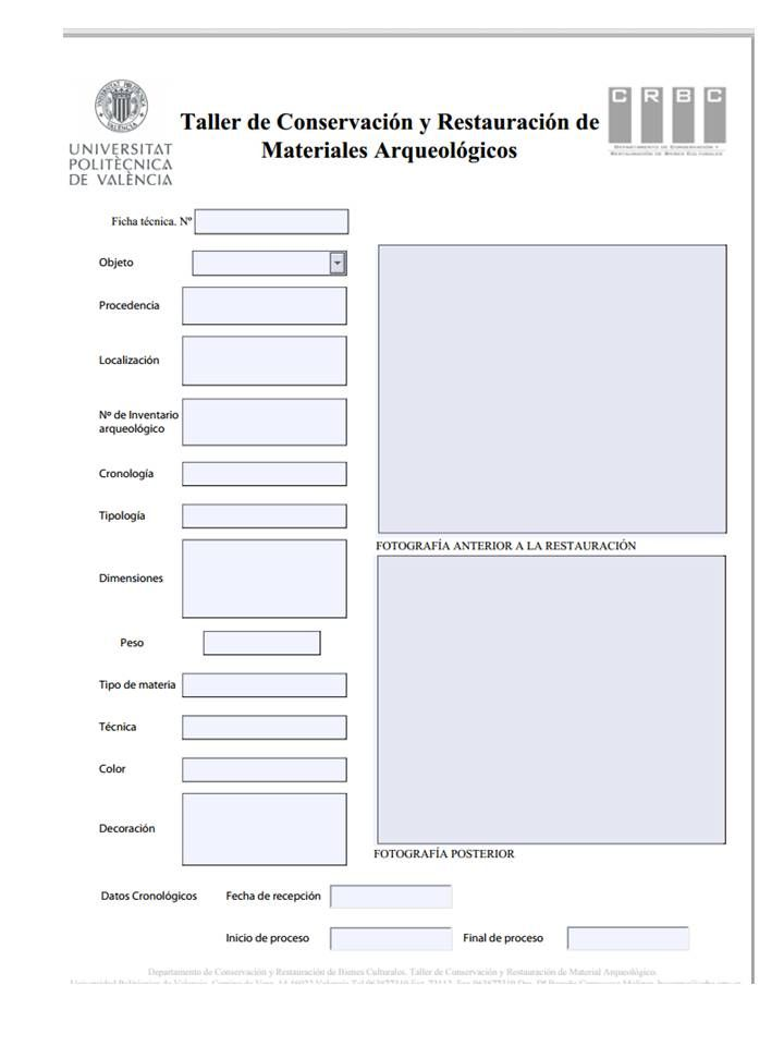 Ficha técnica arqueología UPV
