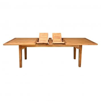 Aria Double Extension Table, Brown