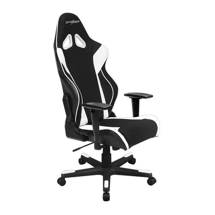 Dxracer Oh Rw106 Nw High Back X Rocker Gaming Chair Strong Mesh Pu Black White