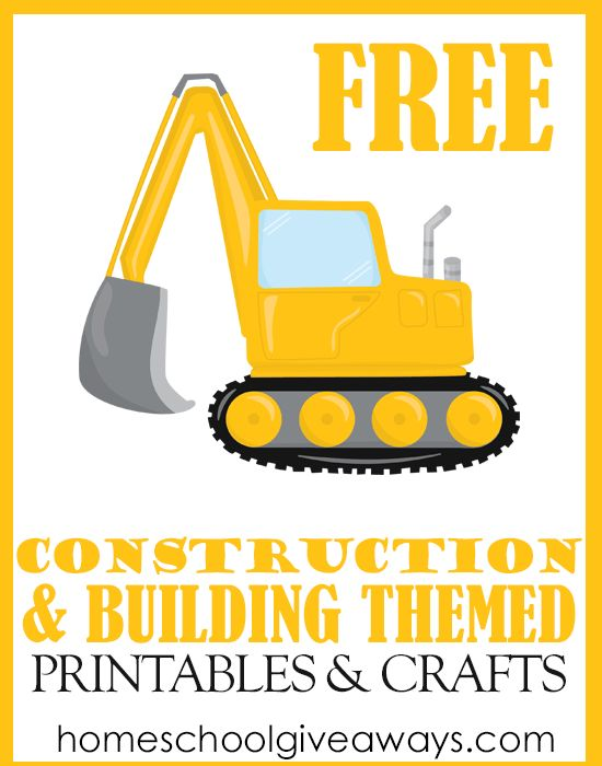 FREE Construction and Building Themed Printables and Crafts Gina Wong
