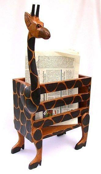 Great GIRAFFE ZEITUNGSHALTER Holzst nder Zeitunghalter Halter Holzbox Zeitungsst nder Kreative IdeenHolzWohnenGartenGiraffenK rbeWoodLiveGarden