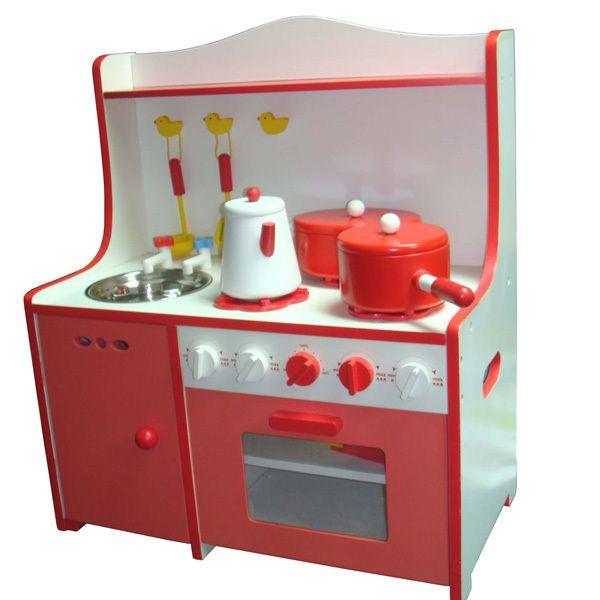 Los ni os juego de ficci n cocinar cocina de madera de - Juegod de cocinar ...