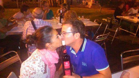 Romántico Selfie para una Garnacha que favorece los mejores encuentros en pareja. Viva el amor y Obergo Caramelos!