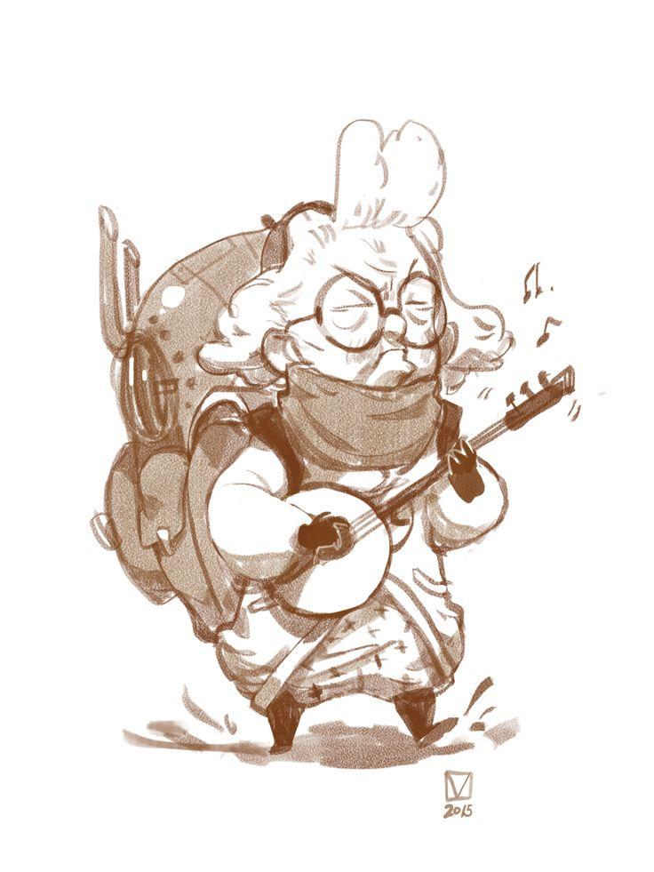 여행하는 나그네  /  할머니 캐릭터화