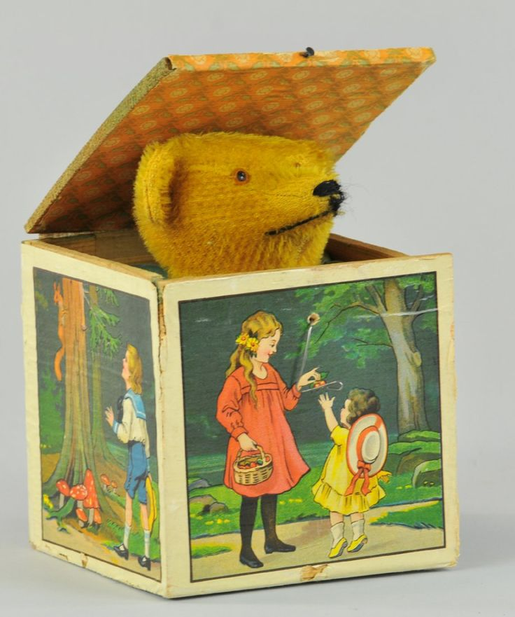 TEDDY BEAR JACK-IN-THE-BOX : Lot 1775