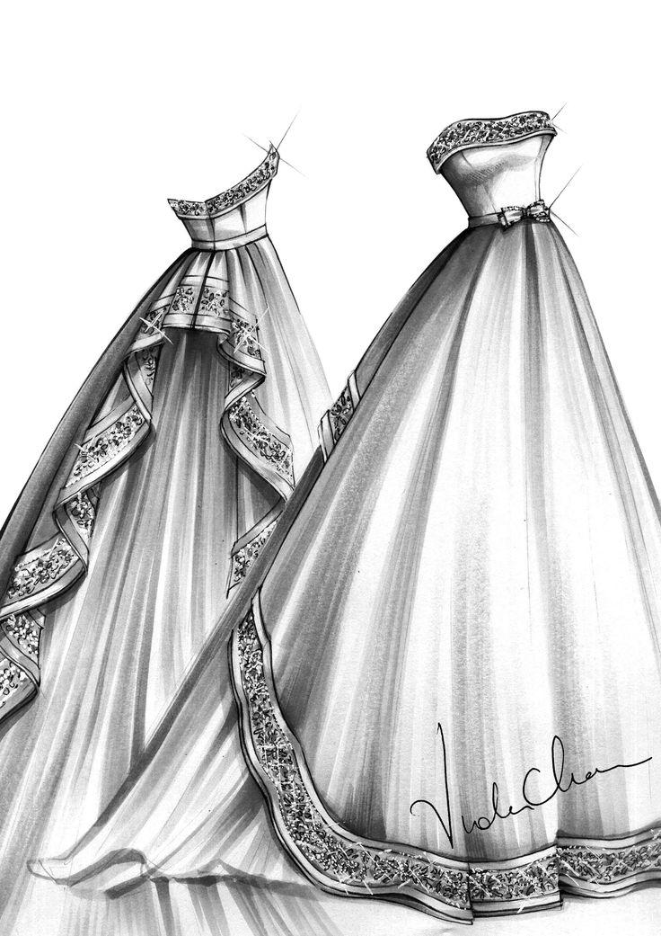 Красивые платья картинки карандашом