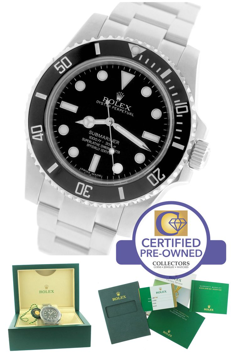 2016 Rolex Submariner No-Date 114060 Stainless Black Dive Ceramic 40mm Watch