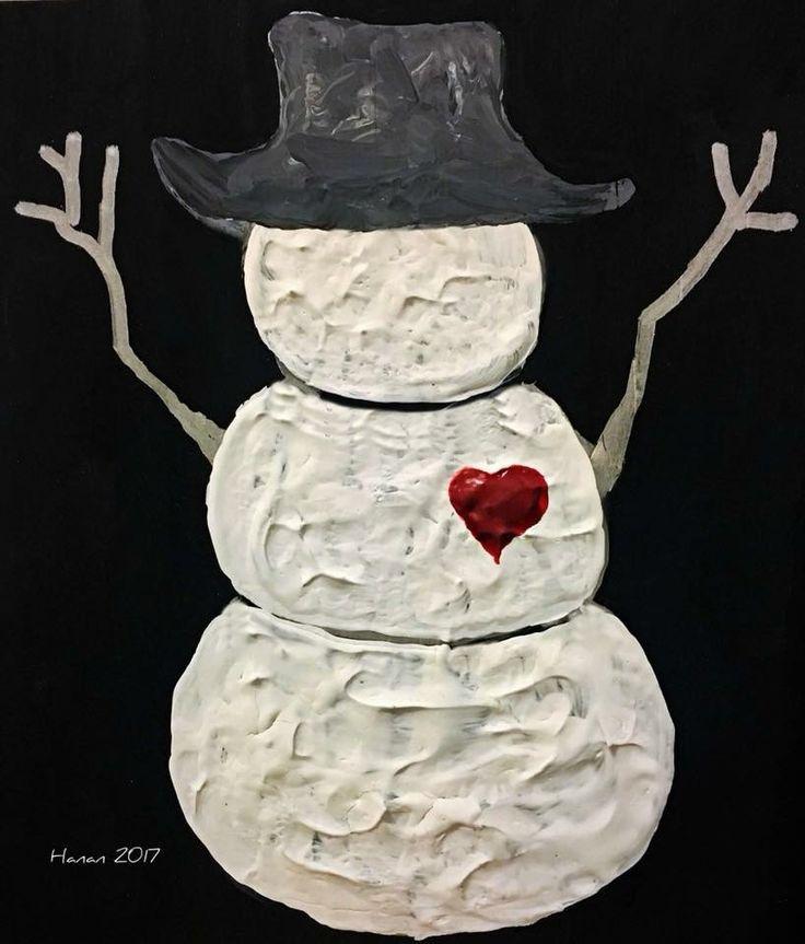 Snowman  Acrylic on wood  2017