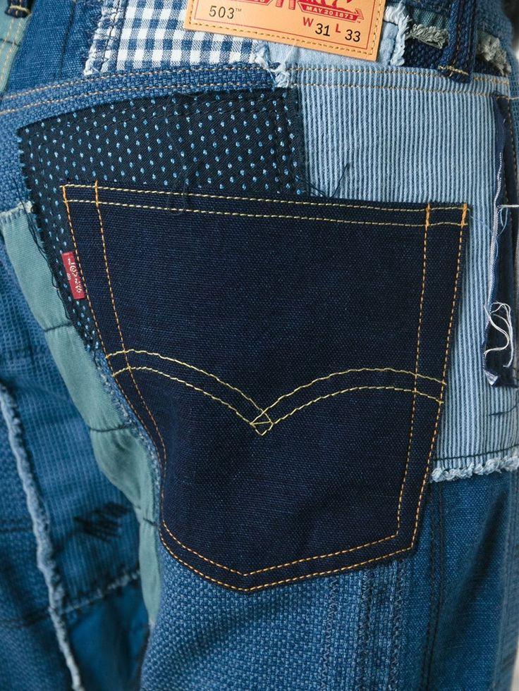 Junya Watanabe Comme Des Garçons Man Junya Watanabe X Levi's Patchwork Jeans - Eraldo - Farfetch.com