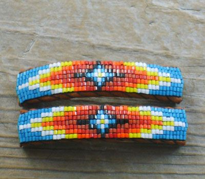 Native American Indian beaded Jewelry,American Indian Beaded Barrettes, Beaded Hair Bands our specialty at The Turquoise Mine.com
