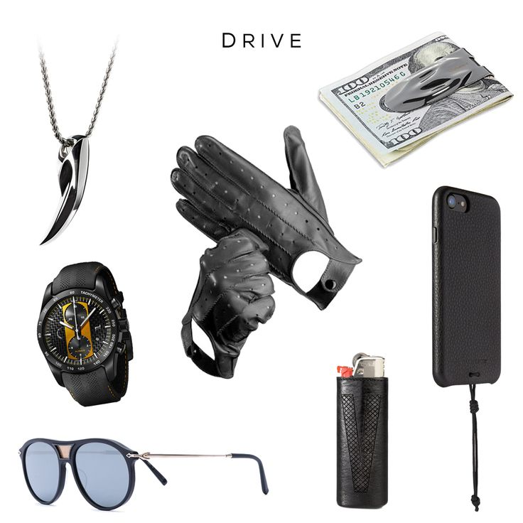 Clockwise (starting from top left): Fenrir pendant by SVORN, Driving gloves by ASPINAL OF LONDON, Makt money clip by SVORN, Leather iPhone 7 Snap Case & Leather Lighter Sleeve by KILLSPENCER, Aviator Sunglasses by MATSUDA, Chronograph 911 Turbos S Series Watch by PORSCHE DESIGN#porsche #mensaccessories #mensgoods #streetstyleluxe #streetstyles #streetwear #mensjewelry #jewelryformen #drive #leather #iphone #gadget #gear #pendant #sportscar #wolf #fang #badass #watch #svorn #streetfashion