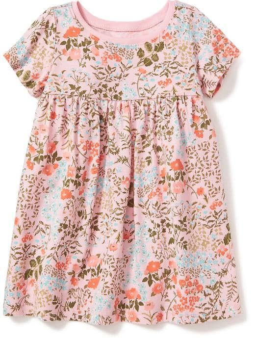 Cute floral spring or summer dress for baby girl