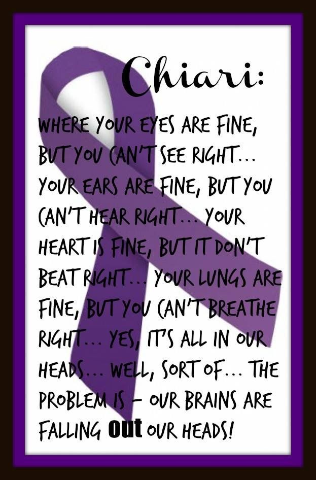 Excally all the symptoms and so much more we live with every day. CHIARI WARRIOR'S LIFE