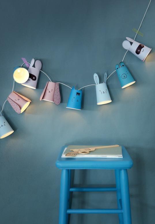 Eine niedliche DIY Lichterkette fürs Kinderzimmer