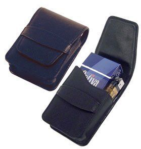 """""""Vigo"""" Black Leather Cigarette Case with Lighter Pouch by Other Brands. $24.99"""