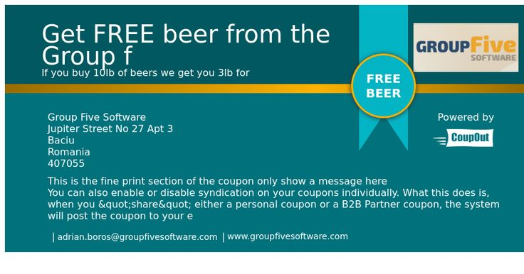 Get FREE beer from the Group f