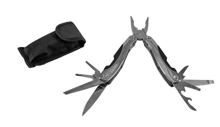 AL-KO Multi-Tool   #Multifunktionszange inkl. #Feile, #Messer, #Schraubendreher, #Säge, #Dosenöffner, #Flaschenöffner und #Kombizange. Mit praktischem Etui.