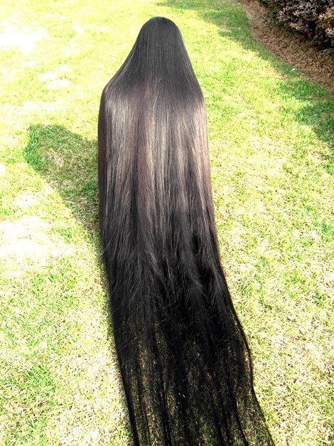 American Indian's Hair. Black silk thread