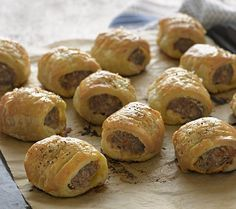 Salt 'n' peppered sausage rolls  The perfect picnic or party food, sausage rolls are incredibly easy to make, especially when using bought puff pastry. The-Great-British-Bake-s-scrumptious-recipes-Seven-savoury-pies-pastries-simply-try