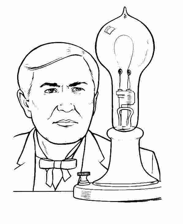 Free Coloring Pages Thomas Edison In 2020 Coloring Pages Free Coloring Pages Free Coloring Pictures