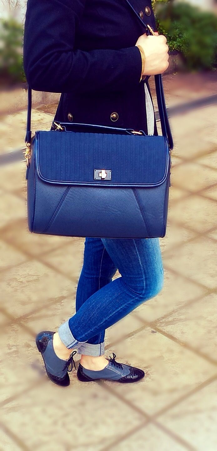 @Paul's boutique bag,  @dexim Oxford shoes