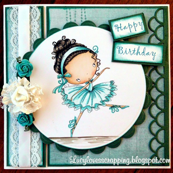 Lucy loves scrapping: Monochromatic teal card (All Dressed Up image)