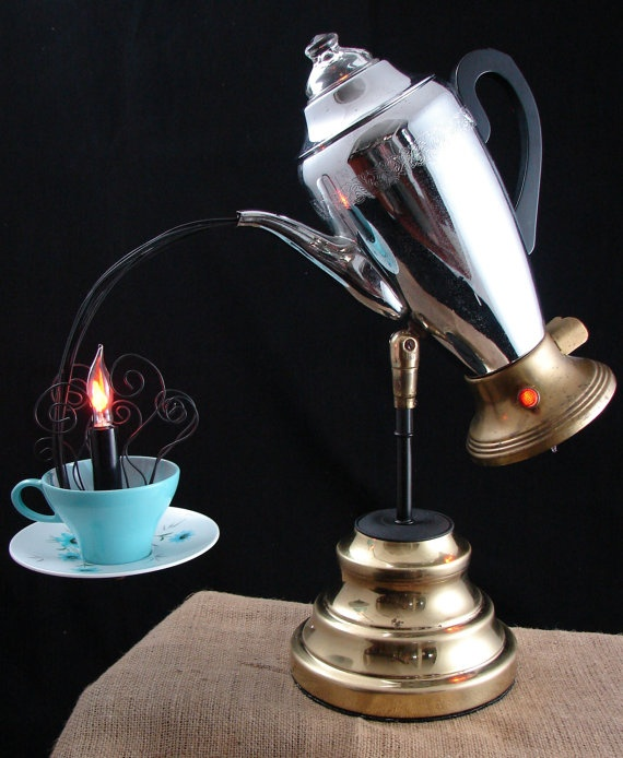 Coolest Upcycled Lamp... I soooo want to make this. Don't know where I would put it, too cool though!