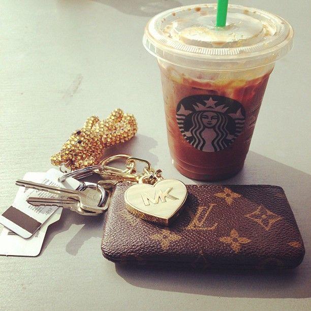 wallet with money. coffee. car keys. and gym membership. soon soon