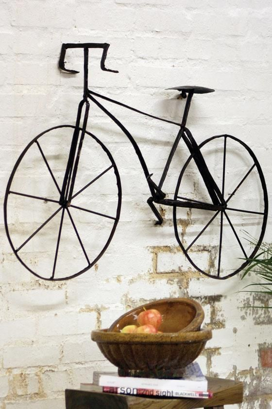 bicycle wall sculpt... would be a wonderful present for a bike enthusiast like @Erin Mayo!