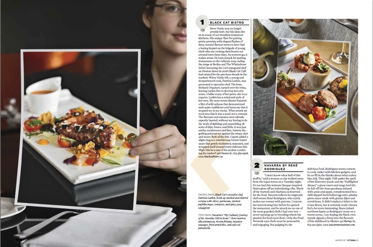 """Silver winner in Creative #Photography. """"Ideas on the Plate"""" by Christian Lalonde and Jane Corbett published in #Ottawa Magazine, 2011."""