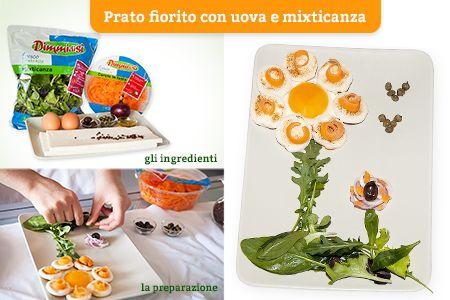 La #mixticanza è un prodotto con tanti tipi di insalatine diverse, quindi ideale per creare un prato divertente!  Scopri le #Ricette di Silvia: http://www.dimmidisi.it/it/dimmicomefai/le_ricette_di_silvia/article/prato_fiorito_con_uova_e_mixticanza.htm - #dimmidisi #ricetta #cucina #insalata #salad #recipe #cooking #cuisine
