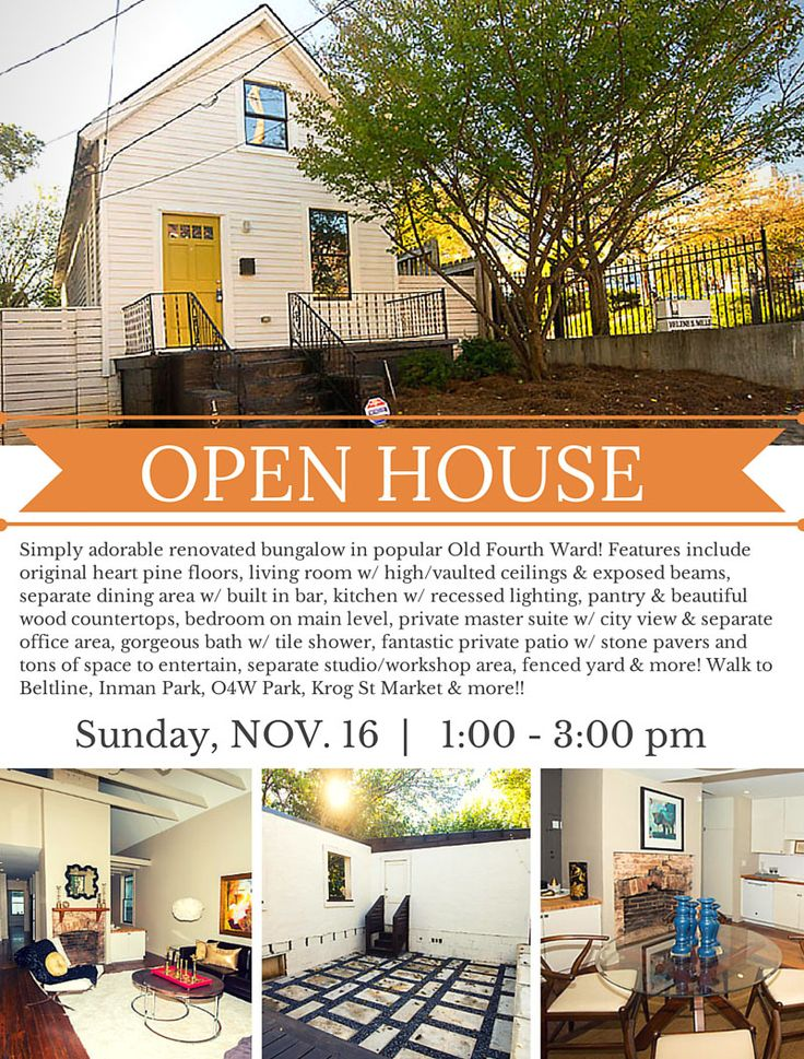 Cute bungalow for sale in atlantas o4w come out sunday 1