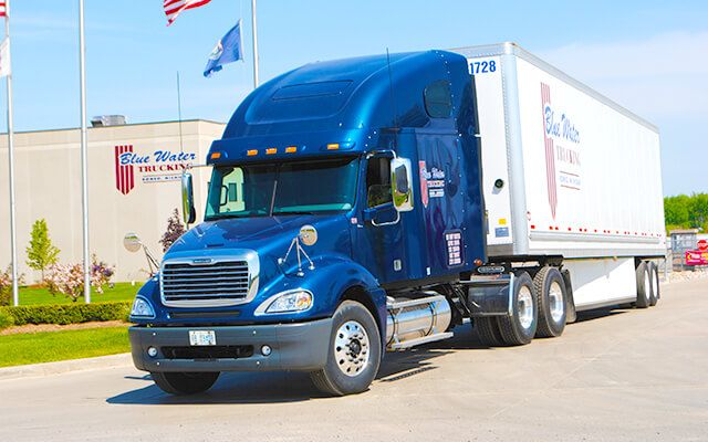 Blue Water Trucking Inc Of Romeo Michigan Is A Dry Van Asset Based Carrier That Hauls Freight Throughout The United States Trucks Blue Water Freightliner