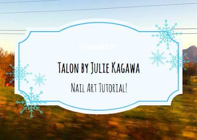 The Frozen Book Blog: Talon by Julie Kagawa Nail Art Tutorial