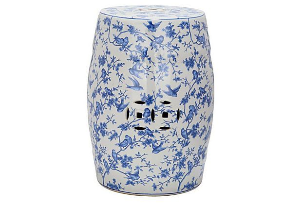 Bridget Ceramic Garden Stool Blue White Get An Extra 30