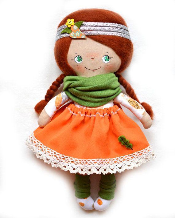 Autumn cloth doll Dress up doll for kids by Fairybugcreativetoys