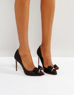 Zapatos de salón de tacón negros con brillos Azeline de Ted Baker ... 64177f8a51bb