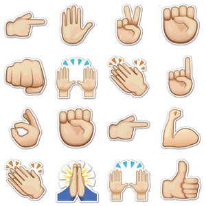 Hand Gestures Emojis, $16, now featured on Fab.