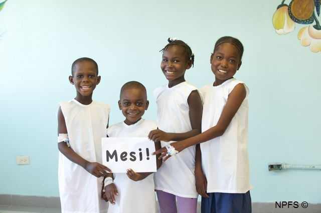Les enfants vous disent merci, grâce aux donateurs ils ont enfin l'accès aux soins