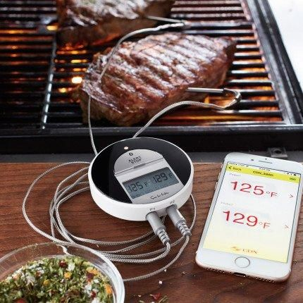 Sur La Table Bluetooth Dual-Probe BBQ Thermometer & Timer BT482